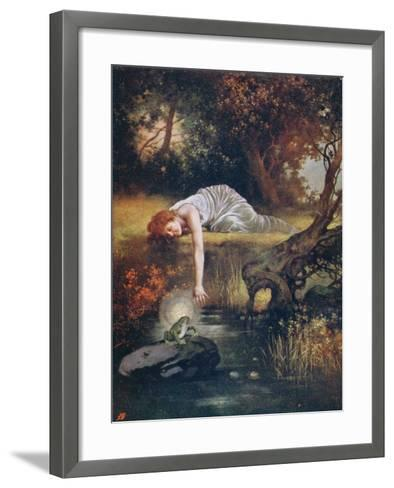 The Frog Prince with the Princess, Early 20th Century--Framed Art Print