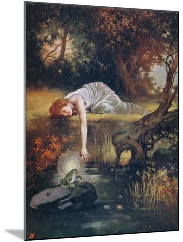 The Frog Prince with the Princess, Early 20th Century--Mounted Giclee Print