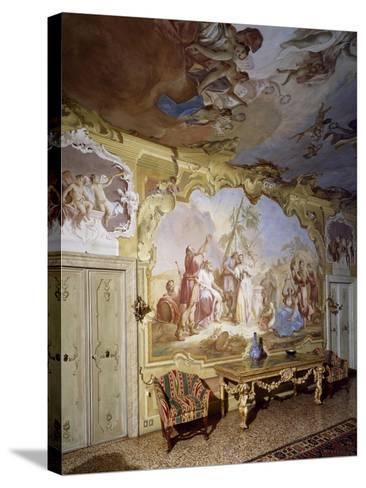 Glimpse of Central Hall with Frescoes--Stretched Canvas Print