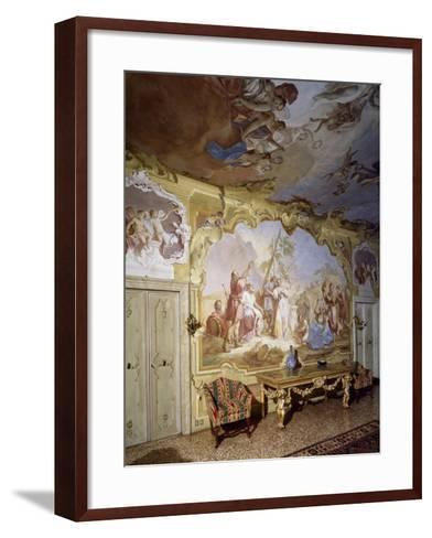 Glimpse of Central Hall with Frescoes--Framed Art Print