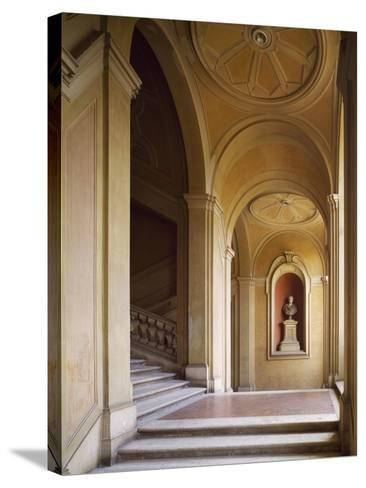 Detail from Staircase, Palazzo Corsini, Lungara, Rome, Italy--Stretched Canvas Print