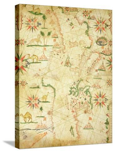 The Mediterranean Basin, from a Nautical Atlas, 1651--Stretched Canvas Print