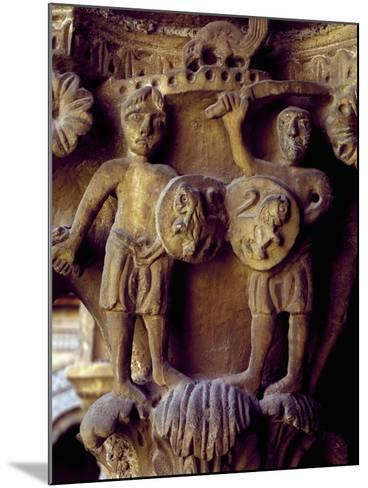 Norman Soldiers, Detail of Cloister Capital Relief, Cathedral of Santa Maria Nuova, Italy--Mounted Giclee Print