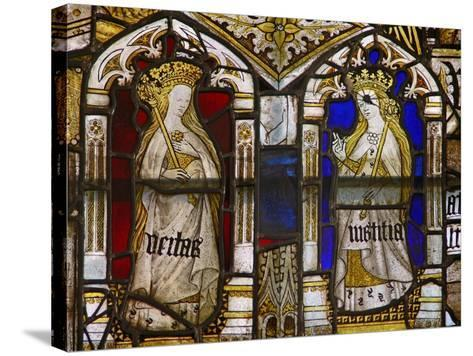 A Panel in the East Window Depicting the Cardinal Virtues: Truth--Stretched Canvas Print