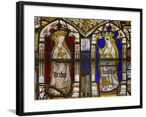 A Panel in the East Window Depicting the Cardinal Virtues: Truth--Framed Art Print