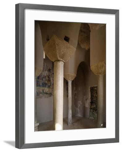Interior of Catholic Church of Stilo, Calabria, Italy, 9th-10th Century--Framed Art Print