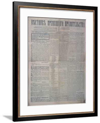 The Abdication of Tsar Nicholas II in Favour of Prince Michael and of Prince Michael's Refusal--Framed Art Print