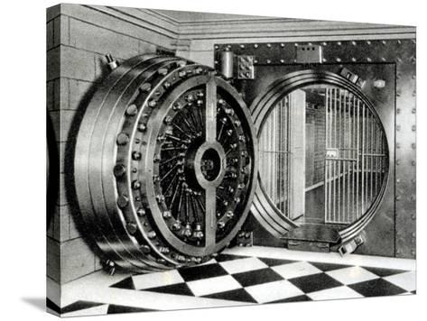 The Safe Deposit Entrance of the Midland Bank at Head Office on Poultry Street, 1933--Stretched Canvas Print