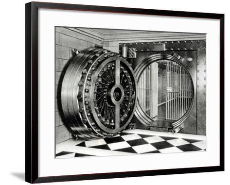 The Safe Deposit Entrance of the Midland Bank at Head Office on Poultry Street, 1933--Framed Art Print