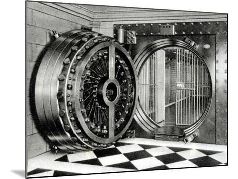 The Safe Deposit Entrance of the Midland Bank at Head Office on Poultry Street, 1933--Mounted Photographic Print