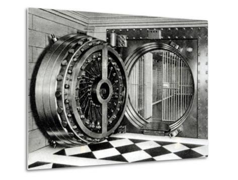 The Safe Deposit Entrance of the Midland Bank at Head Office on Poultry Street, 1933--Metal Print