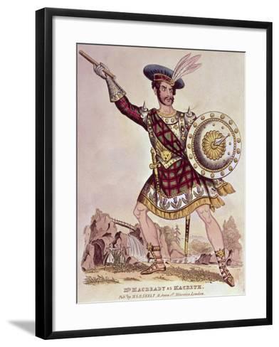 William Charles Macready as Macbeth, Engraved by M and B Skelt--Framed Art Print