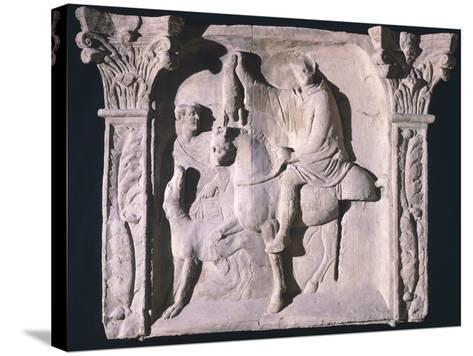 Copy of Relief Depicting Figures Returning from Hunting, from Trier, Germany--Stretched Canvas Print