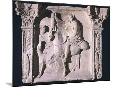 Copy of Relief Depicting Figures Returning from Hunting, from Trier, Germany--Mounted Giclee Print