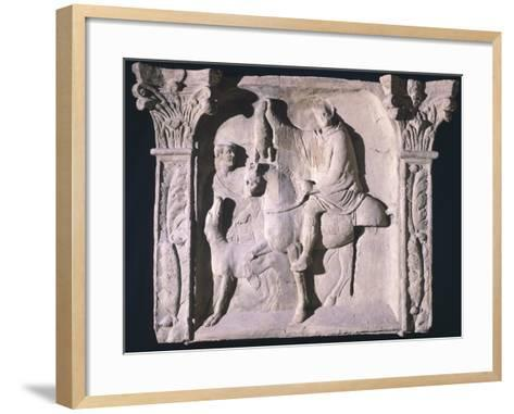 Copy of Relief Depicting Figures Returning from Hunting, from Trier, Germany--Framed Art Print