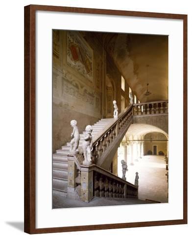 Italy, Emilia-Romagna, Rocca Meli-Lupi of Soragna, Interior Staircase--Framed Art Print