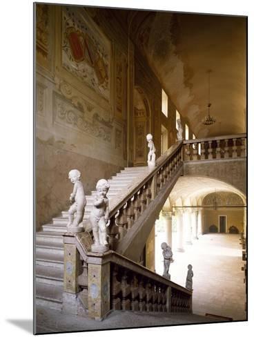 Italy, Emilia-Romagna, Rocca Meli-Lupi of Soragna, Interior Staircase--Mounted Giclee Print