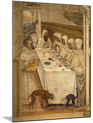 St. Benedict Finds Flour and Feeds the Monks, from the Life of St. Benedict, 1497-98--Mounted Giclee Print