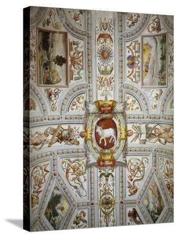Ceiling Decoration, Villa Cicogna Mozzoni, Bisuschio, Italy, 16th Century--Stretched Canvas Print