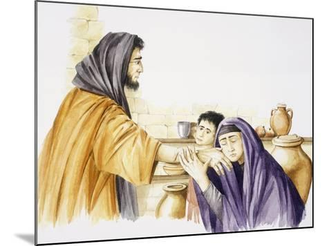 Elijah Is Received by Widow of Zarepta and Her Son--Mounted Giclee Print