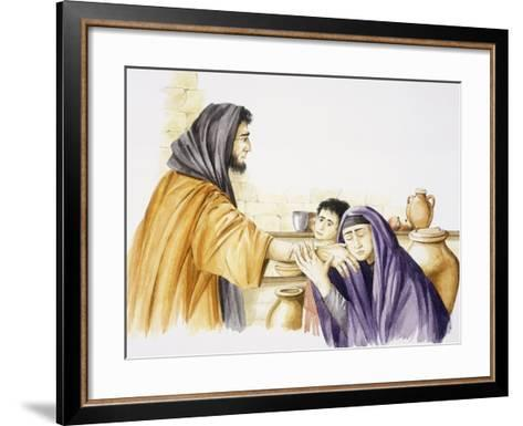 Elijah Is Received by Widow of Zarepta and Her Son--Framed Art Print