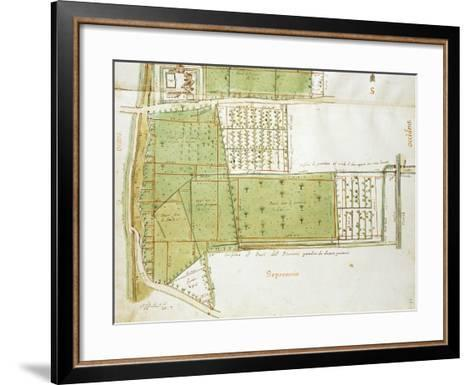 Map of Country Estates of the Court of the Gualtirolo, Commune of Campegine in Castelnuovo Di Sotto--Framed Art Print