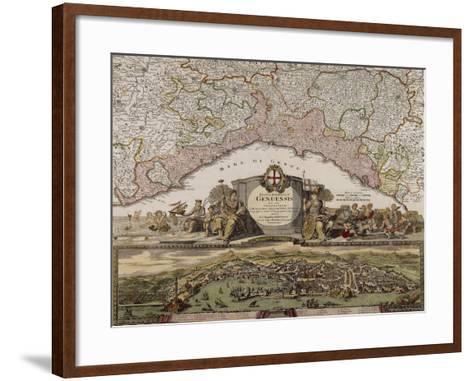 Republic of Genoa, Map, Nuremberg--Framed Art Print