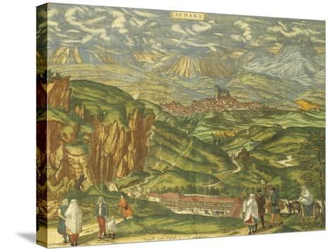 Map of Alhama De Granada from Civitates Orbis Terrarum--Stretched Canvas Print
