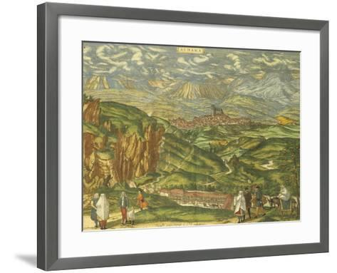 Map of Alhama De Granada from Civitates Orbis Terrarum--Framed Art Print