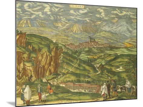 Map of Alhama De Granada from Civitates Orbis Terrarum--Mounted Giclee Print