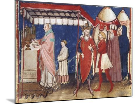 Celebrating Holy Mass for the Sovereign, Miniature, France 15th Century--Mounted Giclee Print