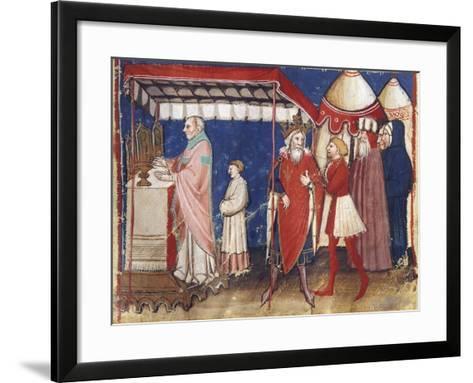Celebrating Holy Mass for the Sovereign, Miniature, France 15th Century--Framed Art Print