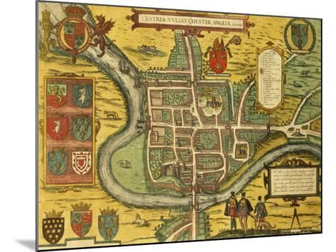 Map of Chester from Civitates Orbis Terrarum--Mounted Giclee Print