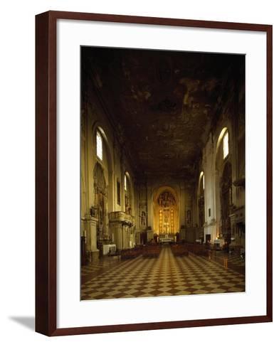 Italy, Emilia-Romagna, Rimini, Interior of Church of Saint Augustine--Framed Art Print