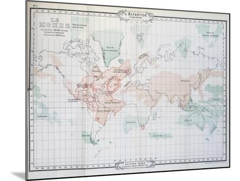 Map of World, from Histoire De L'Atlantide--Mounted Giclee Print