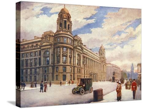 The War Office in Whitehall, London, 1913--Stretched Canvas Print