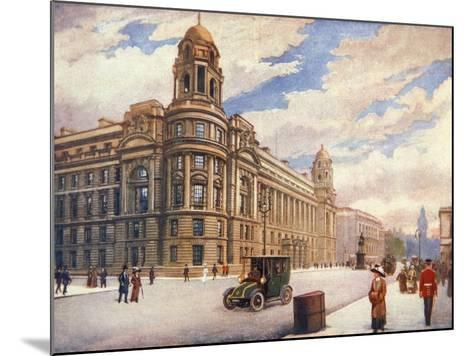 The War Office in Whitehall, London, 1913--Mounted Giclee Print