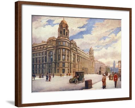The War Office in Whitehall, London, 1913--Framed Art Print