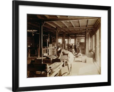 Tea Pickers at the Lipton Factory in Ceylon, C.1900--Framed Art Print