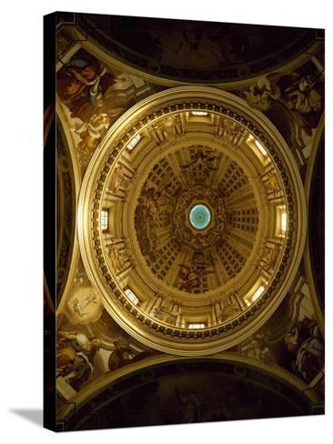 Interior of Dome of Shrine of Our Lady of Guard, Sanremo--Stretched Canvas Print