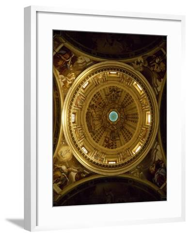 Interior of Dome of Shrine of Our Lady of Guard, Sanremo--Framed Art Print