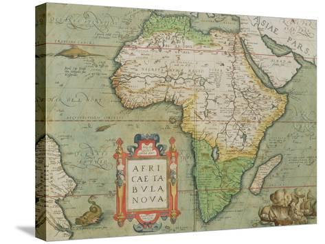 """Map of Africa, from the """"Theatrum Orbis Terrarum""""--Stretched Canvas Print"""