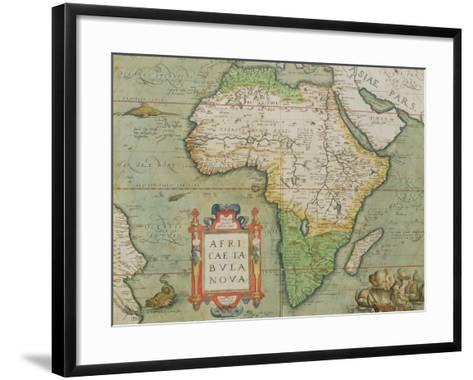 "Map of Africa, from the ""Theatrum Orbis Terrarum""--Framed Art Print"