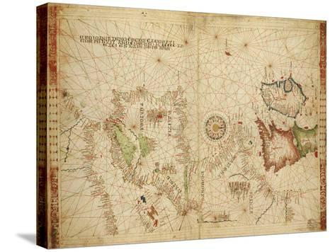 Atlantic Coasts of Europe and Africa and the Western Mediterranean Sea from a Portolan Atlas--Stretched Canvas Print