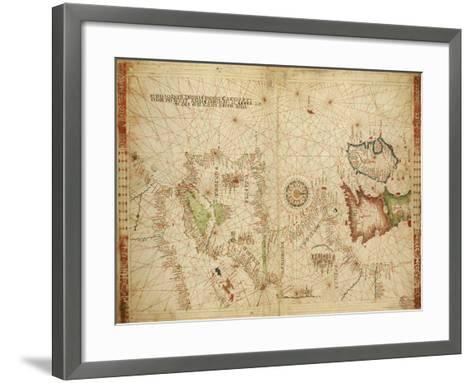 Atlantic Coasts of Europe and Africa and the Western Mediterranean Sea from a Portolan Atlas--Framed Art Print