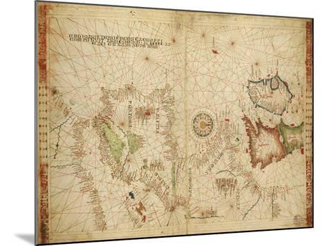 Atlantic Coasts of Europe and Africa and the Western Mediterranean Sea from a Portolan Atlas--Mounted Giclee Print