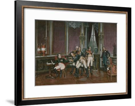The Abdication--Framed Art Print