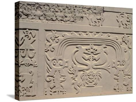 Low Relief Showing Bicefali Snakes and a Frieze with Warriors--Stretched Canvas Print