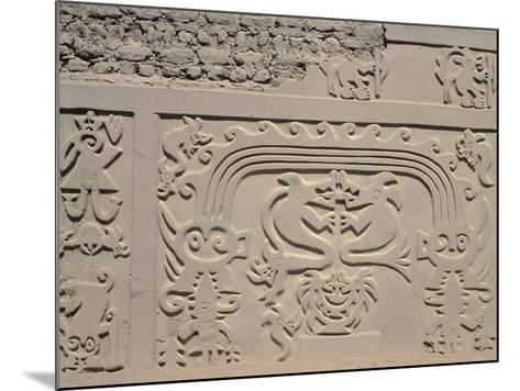 Low Relief Showing Bicefali Snakes and a Frieze with Warriors--Mounted Giclee Print