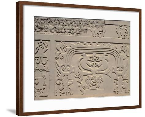 Low Relief Showing Bicefali Snakes and a Frieze with Warriors--Framed Art Print